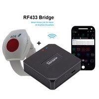 WIFI SOS Knop voor Ouderen RF 433mhz Paniekknop Nood Alarm Wirelss Horloge Armband Oude Mensen Android IOS APP