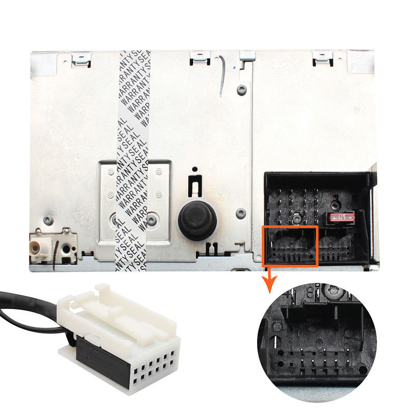 Автомобильный аудио MP3 Интерфейс USB SD AUX адаптер 12Pin для VW Audi Skoda Quadlock