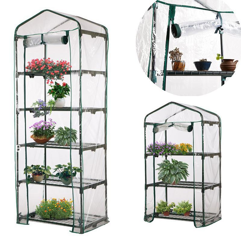 ПВХ теплый садовый ярус, мини-крышка для домашних растений, теплиц, водонепроницаемая защита от УФ-лучей, садовые растения, цветы (без железн...
