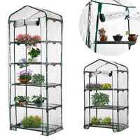 PVC Warm Garden Tier Mini Household Plant Greenhouse Cover Waterproof Anti-UV Protect Garden Plants Flowers (without Iron Stand)