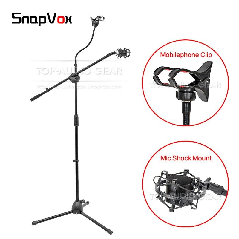 Handy Clip Spinne Halter Suspension Shock Mount Für Scarlett Studio Cm25 Cm 25 Aufnahme Mic Methodisch Boden Mikrofon Stand