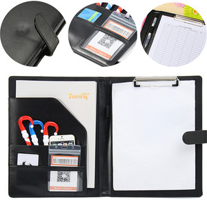 Executive A4 Men Business Conference Folder with Clipboard PU Leather Document File