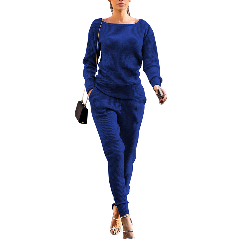 Spring Women's sweater pullover 2 Piece Set suit Casual Knitted Tracksuit Sportswear christmas Sweatshirts Outfits