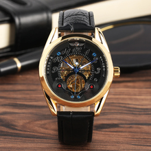 Men's Waterproof Skeleton Watches Luxury Automatic-self-winding Mechanical Watch Golden Gear Business Style Clock reloj hombre pagani design automatic watch men waterproof mechanical watches mens self winding horloges mannen dropship
