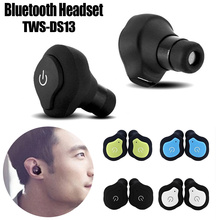 TWS-DS13 Mini Bluetooth Earphones 1 Pair True Wireless Earbuds Sports Stereo Headset With Mic Handsfree qcy q29 mini wireless bluetooth 4 1 dual earphones with mic black