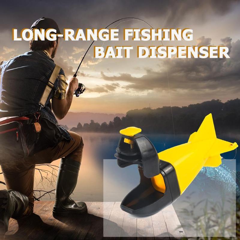 Long Shot Fishing Bait Rocket Feeder Float Bait Holder Maker Tackle Spomb Spod Bomb Bait Fishing Carp Pellet Fish Tackle Pesca