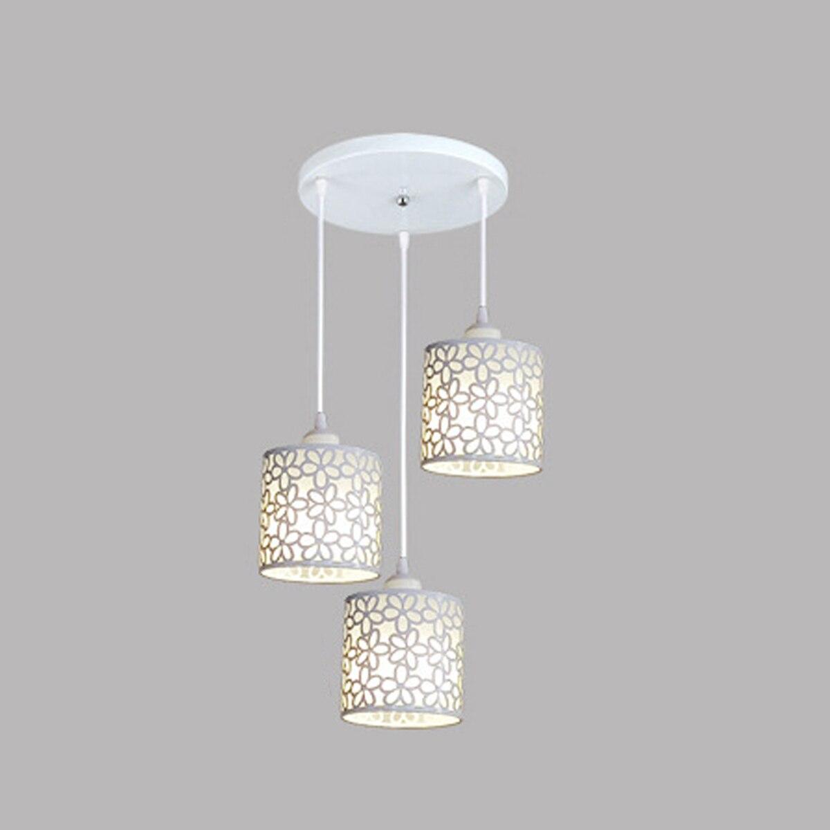 Modern İskandinav LED kolye ışıkları fikstür demir Hollow Out asılı kolye lamba ev dekorasyon yemek odası yatak odası dükkanı Bar