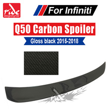 For Infiniti Q50 Q50S High-quality Carbon Fiber Rear Roof Window Spoiler 2015-in ST Style Auto Racing Car Tail Lip Wing Spoiler carbon fiber auto racing spoiler wing for porsche cayenne 958 turbo s sport 4 door 2015 2017