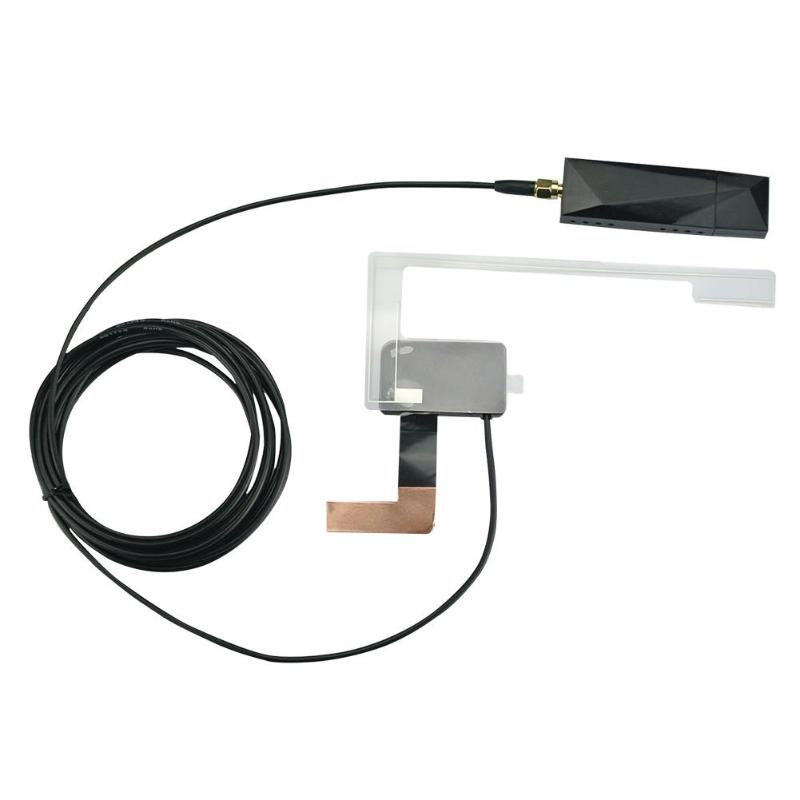 DAB002 DAB+ Antenna with USB Adapter Receiver for Android Car Stereo Player SMA DAB Receiver Box Auto Radio Aerial Antenna Cable