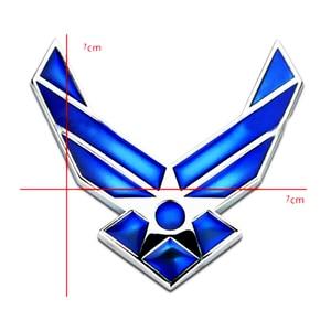 Image 5 - 3D Metal Blue Air Force Logo Car Sticker Decal USAF Car Badge Emblem