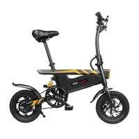 Ziyoujiguang T18 25KM/H 15.74 Inch Tires Lightweight Motor Electric Bicycle Aluminum Alloy 6061 Frame Electric Bike Front Light