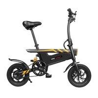 Ziyoujiguang t18 25 km/h 12 Polegada pneus de pouco peso do motor da bicicleta elétrica da liga alumínio 6061 quadro luz dianteira da bicicleta elétrica|Bicicleta elétrica| |  -