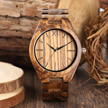 Mens Full Wooden Watch Special No Number Time Dial Wood Strap Watches for Boy Natural Bamboo Wrist Teenager