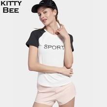 New Sport Top Women Fitness Sport Yoga Shirt Short Sleeve Jersey Women Jogging Workout Running T-shirt Sports Wear For Women Gym цены