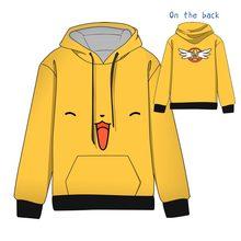 Hot  Anime Cardcaptor Sakura CERBERUS Cotton Cosplay Hoodies Standard Hooded Winter Tops Unisex funny Sweatshirts