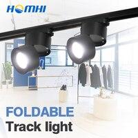 led ceiling lamps adjustable black white modern black spotlight 12 watt wall lamp 110V 220V for shop store lighting fixture