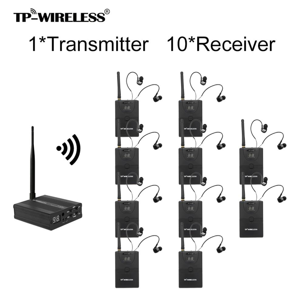 Tragbares Audio & Video In-ohr Bühne Audio Monitor System Professional 2,4 Ghz Digital Wireless Monitor System 1 Sender 1/5/10 Empfänger # S0 Durchsichtig In Sicht