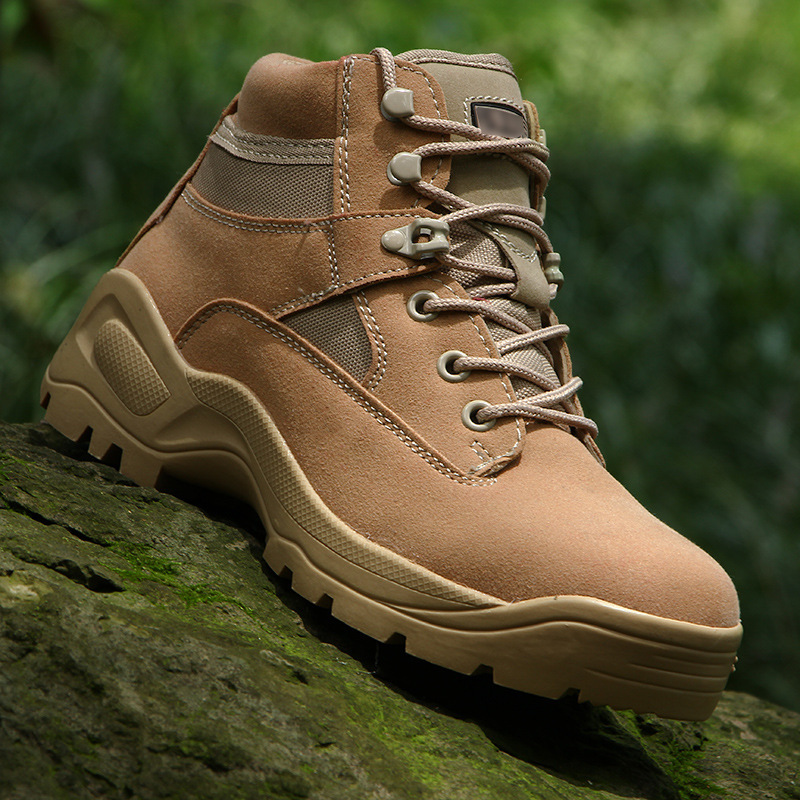 Outdoor Ultralight Waterproof Training Boots Men's Tactical Combat Army Fans Hiking Trekking Non slip Wearproof Hunting Shoes-in Hiking Shoes from Sports & Entertainment    1