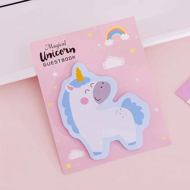 1 Pcs Lytwtw Coreano Kawaii Notepad Sticky Notes Criativo Post Do Unicórnio Do Arco DIY Memo Pad Papelaria Escolar Escritório