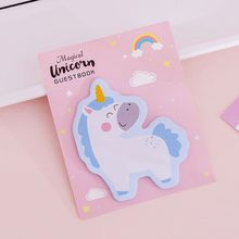 1 Pcs Lytwtw's Koreaanse Kawaii Regenboog Eenhoorn Sticky Notes Creative Post Notepad DIY Memo Pad Kantoor School Stationery(China)