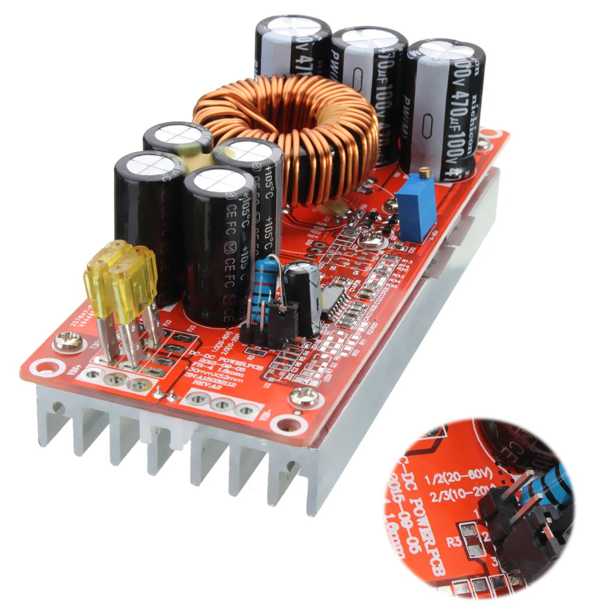 1200 W 20A DC convertisseur Boost Module dalimentation en 10-60 V sortie 12-83 V1200 W 20A DC convertisseur Boost Module dalimentation en 10-60 V sortie 12-83 V