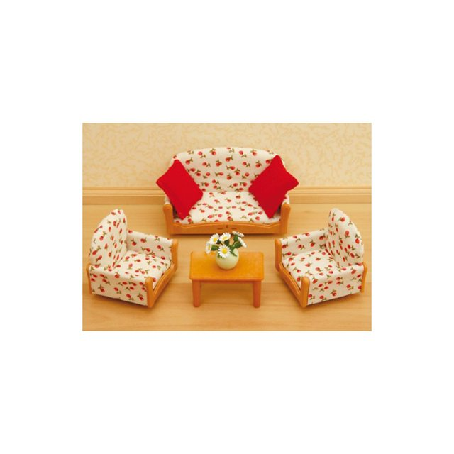 Doll House Accessories SYLVANIAN FAMILIES 2226668 Barbie Furniture Food Toys Dolls Stroller Table Chair Tableware