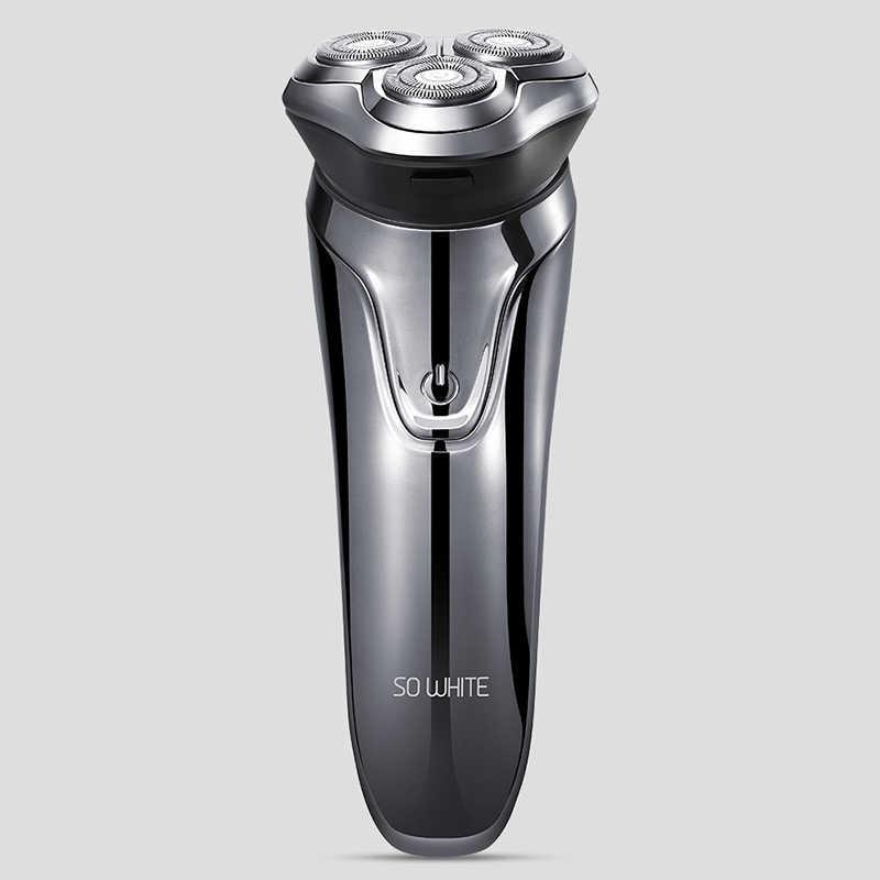 XIAOMI SO WHITE ES3 Men Washable USB Rechargeable Electric Shaver Wireless Smart Control Razor Waterproof Shaving Beard Machine
