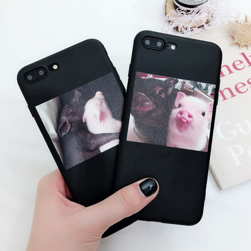 Cute Pig Printed Silicone Phone Shell For iPhone 11 Pro SE 2020 X XR XS Max 6 6s 7 8 Plus 5s SE
