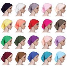 Мусульманский женский платок на голову хлопок подшарф стрейч хиджаб покрывало головной платок подшарф шапка шаль исламский шарф внутренняя повязка на голову, берет