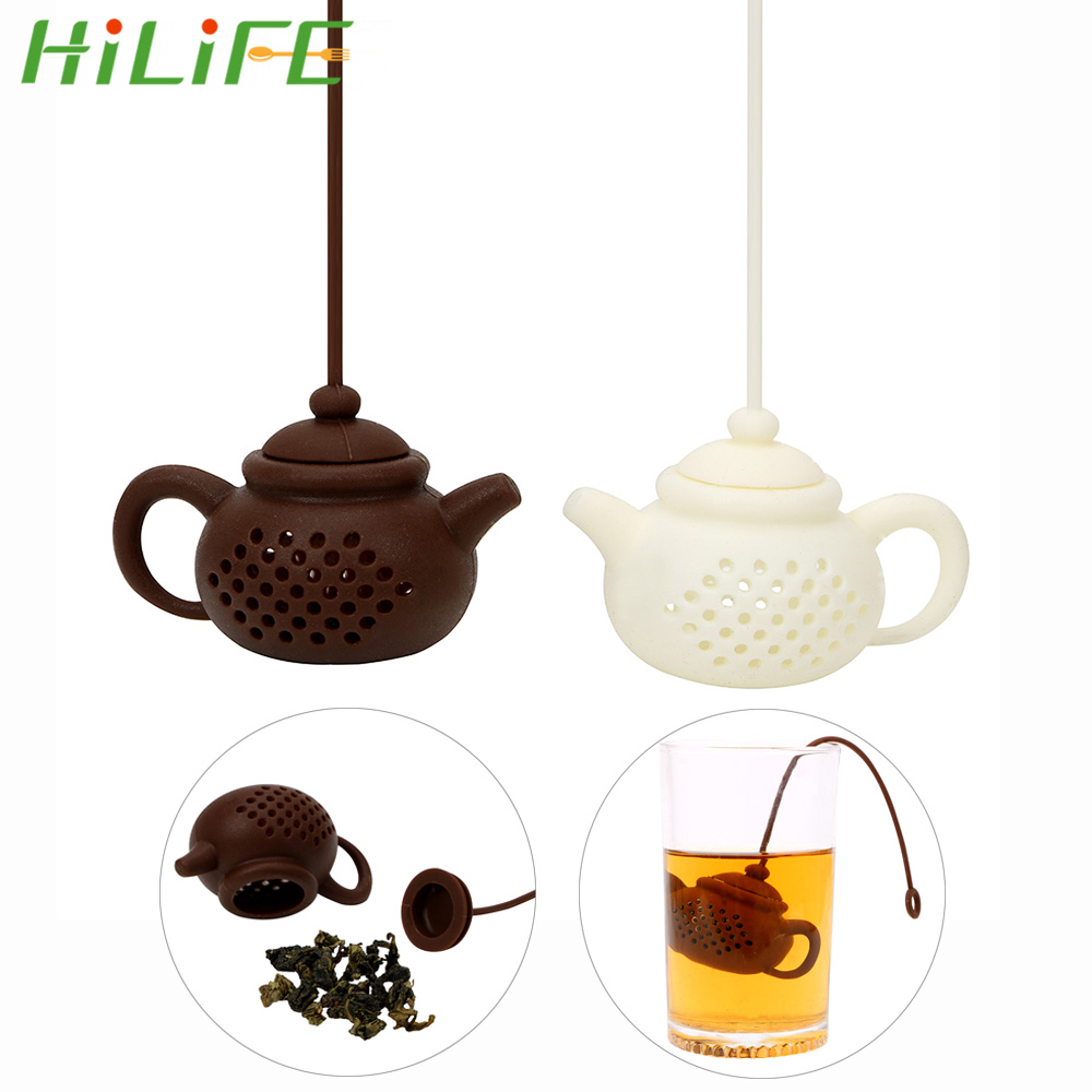HILIFE Empty Silicone Tea Bags Tea Strainer Teapot Shape Tea Infuser Herbal Filter Diffuser Cute Creative Kitchen Teaware