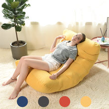 No Filling Bean Bag Sofa Cover Chairs Lazy Bed BeanBag Sofas Cotton Cloth Lounger Seat Pouf Puff Couch Tatami Home Room Yellow(China)