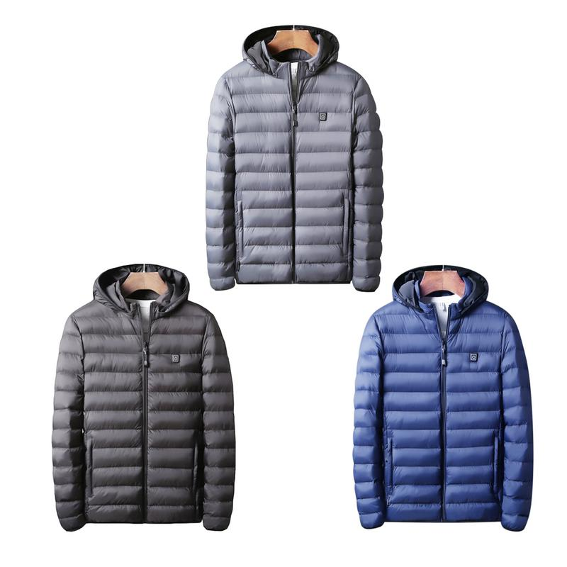 Winter Thermal   Coat   Electric Heating   Down   Cotton Suit USB Charging Heating Cotton Warm Thickened Men Jacket Clothes