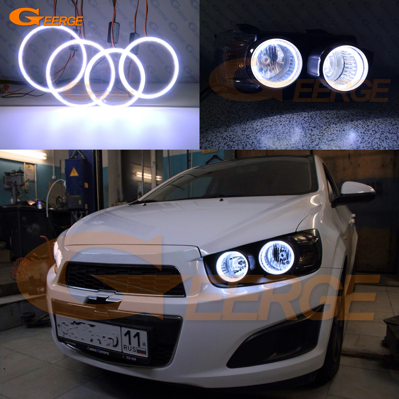 For Chevrolet AVEO Sonic T300 2011 2012 2013 2014 Excellent Ultra bright illumination COB led angel