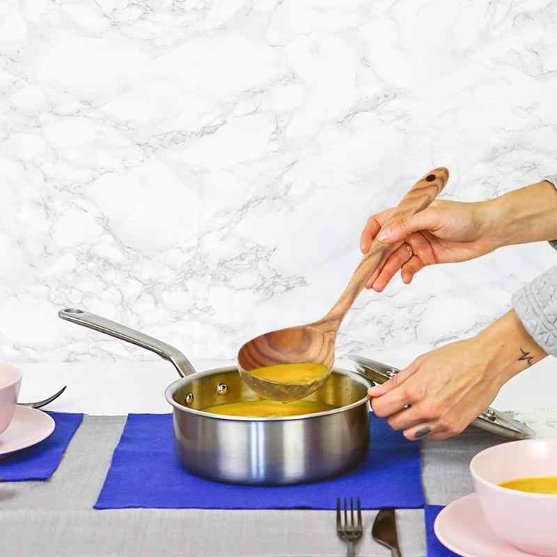 Деревянная кухонная утварь с антипригарным покрытием для приготовления пищи, лопатка для еды, лопатка, ложка, лопатка для еды, кухонные инструменты