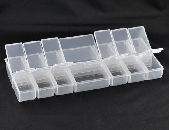 DoreenBeads Clear Beads Display Storage Container 245x110x28.5mm (B08465), Yiwu