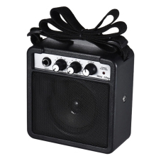 Mini 5 Watt 9V Battery Powered Amp Amplifier Speaker for Acoustic/ Electric Guitar Ukulele High-Sensitivity 1pc guitar plug mini portable recharge elec headphone amp amplifier acoustic rock metal delay