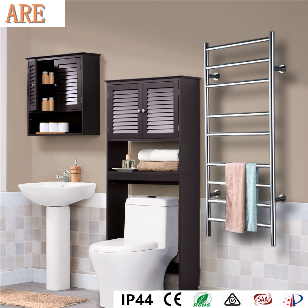 Free shipping Stainless steel 304 ladder style wall mounted towel warmer Rack electric towel dryer heated towel rail HZ-927A
