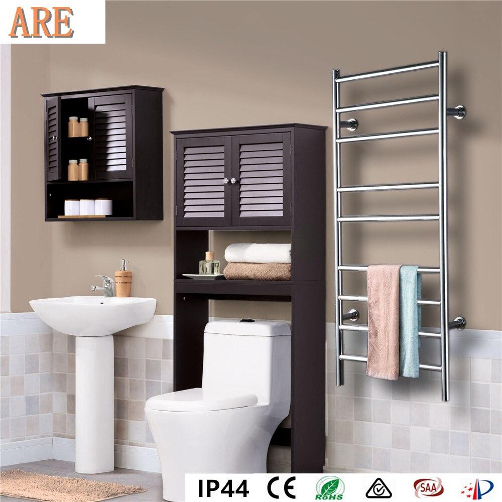 Frete grátis aço Inoxidável 304 escada estilo fixado na parede aquecedor de toalhas Rack secador de toalhas eléctrico toalheiro aquecido HZ-927A