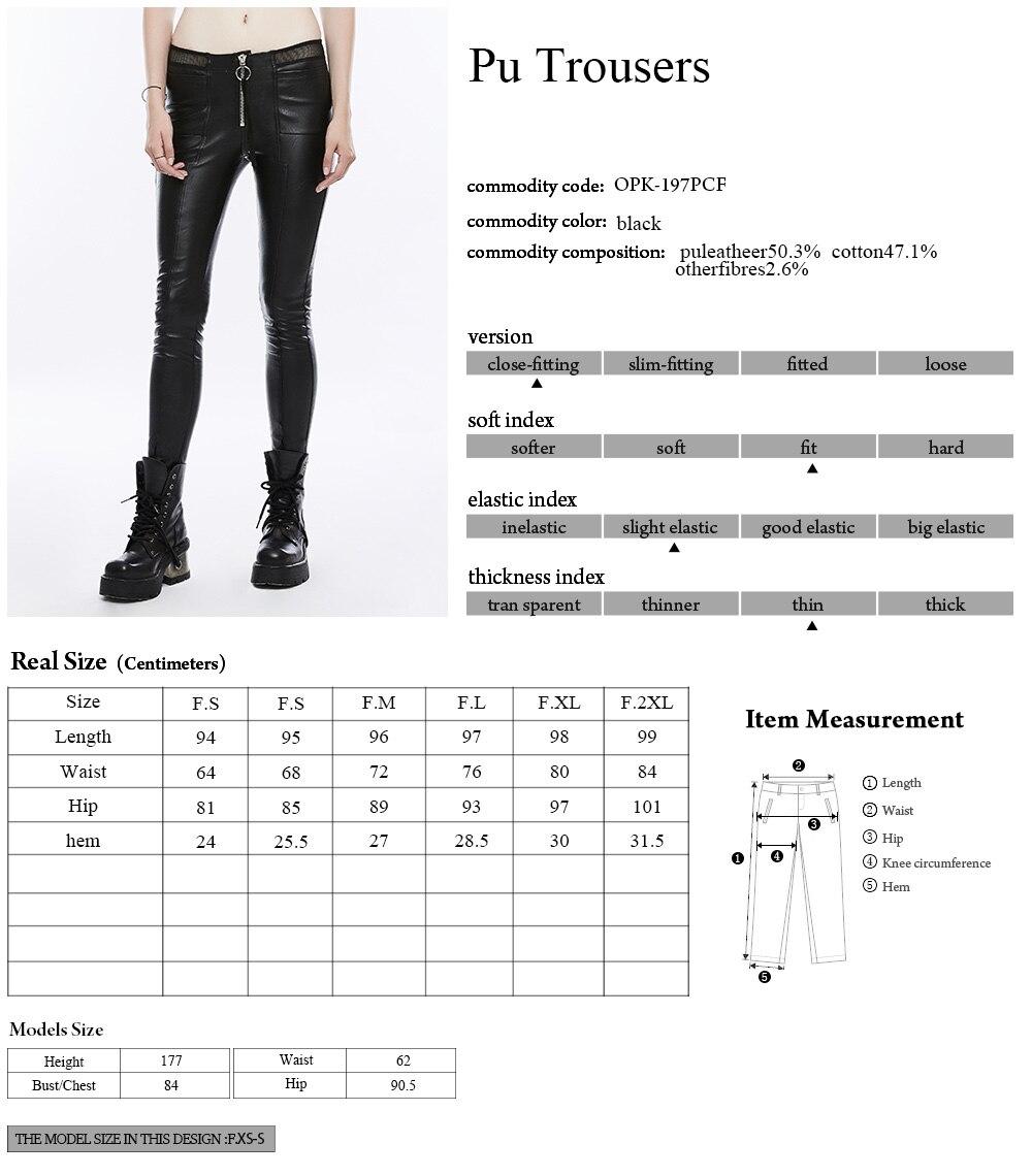 Gothique évider extensible femme beauté Slim Sexy sombre Leggings Punk mode diable empreintes de pas femmes noir pantalon PUNK RAVE K 342 - 6