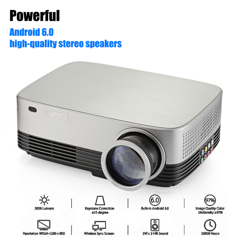 Powerful SV 428 Full HD Led Portable Projector 1280*800 Android 6.0 Home Cinema Theater Beamer Mini Projector Support 1080p