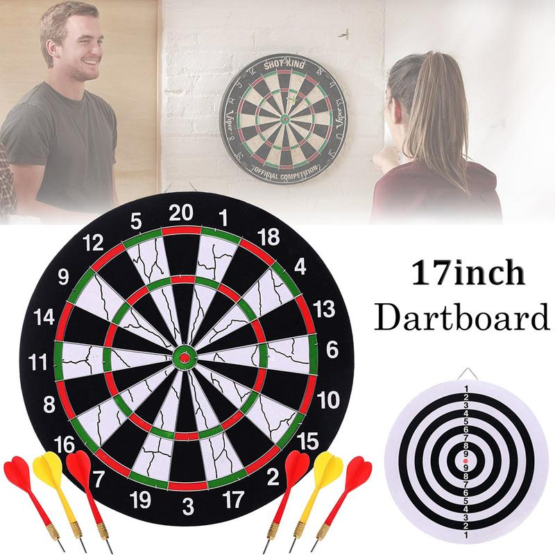 17 Inch Sticky Ball Target + 6 Darts Needle Indoor Toy Children's Educational Classic Toy Set Exercise Brain Decompression Toy