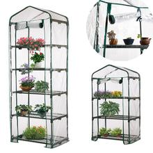 Three SizesPVC Warm Garden Tier Mini Household Plant Greenhouse Cover Homes Decoration Protect Plants Flowers without Iron Stand
