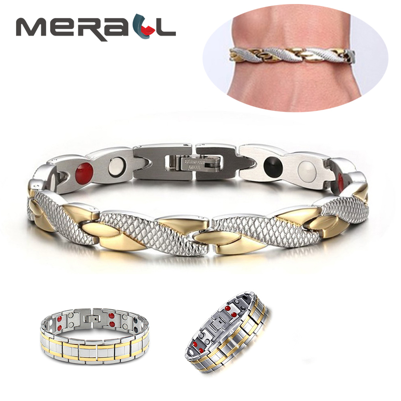 Popular Magnetic Slimming Bracelet Fashionable Jewelry For Man Woman Link Chain Weight Loss Bracelet Health Slimming Products