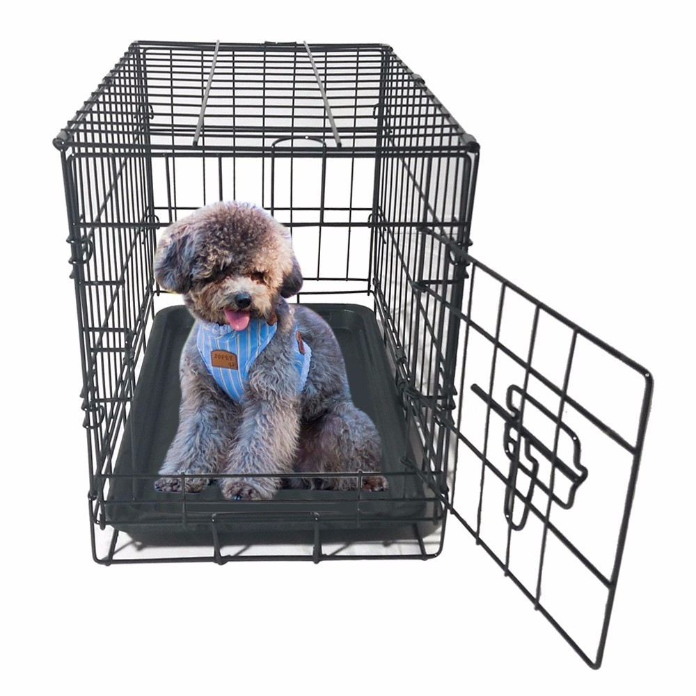 latest-high-quality-pet-kennel-cat-dog-folding-steel-crate-animal-playpen-wire-metal-cage-black-puppy-pet-puppy-dogs-cats-use