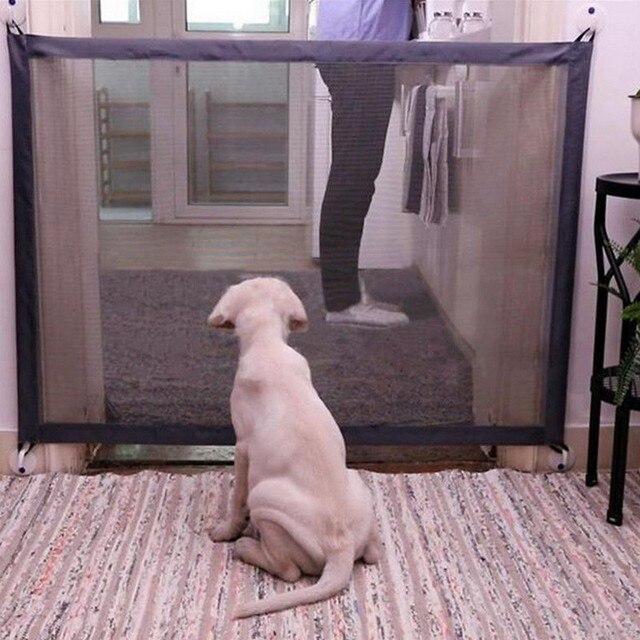 כלב שער נייד מתקפל בטוח משמר הגנת בטיחות מוצרים רשת קסם שער מחמד לכלבים תינוק בטוח משמר ילדי תינוק גדר