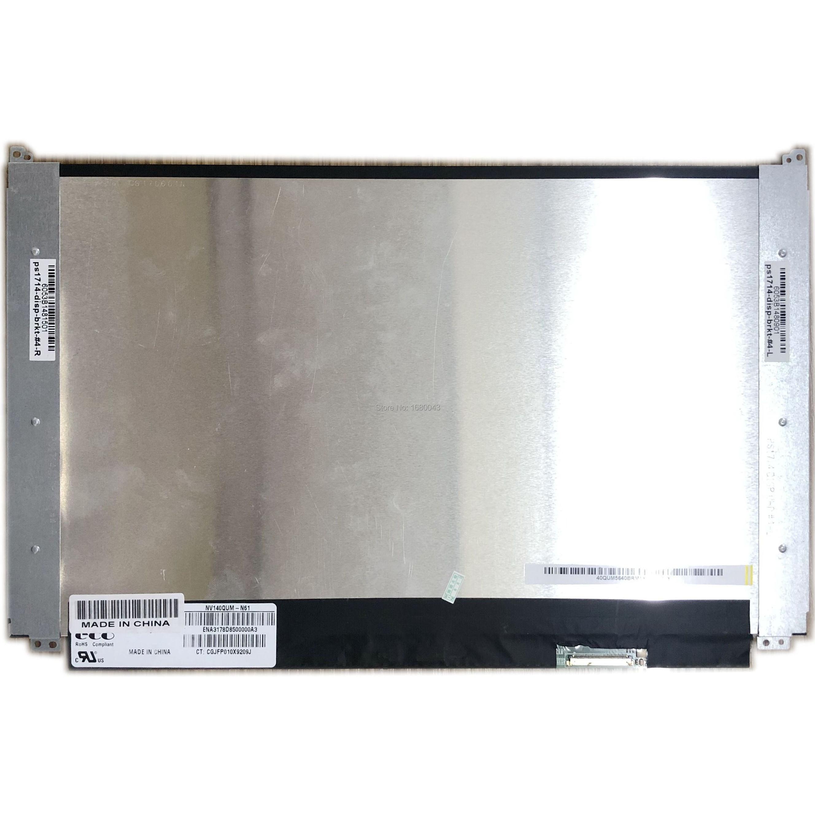 NV140QUM-N61 14LED LCD Screen For 40 pins EDP 3840x2160 Matte 71% NTSC DisplayNV140QUM-N61 14LED LCD Screen For 40 pins EDP 3840x2160 Matte 71% NTSC Display
