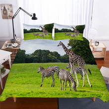 Bedding Set 3D Printed Duvet Cover Bed Set Giraffe Animal Home Textiles for Adults Lifelike Bedclothes with Pillowcase #CJL18