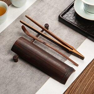 Чайная ложка из натурального бамбука ручной работы, китайский чайный набор, комплект из 4 предметов, костюм, высококачественный зеленый чай,...