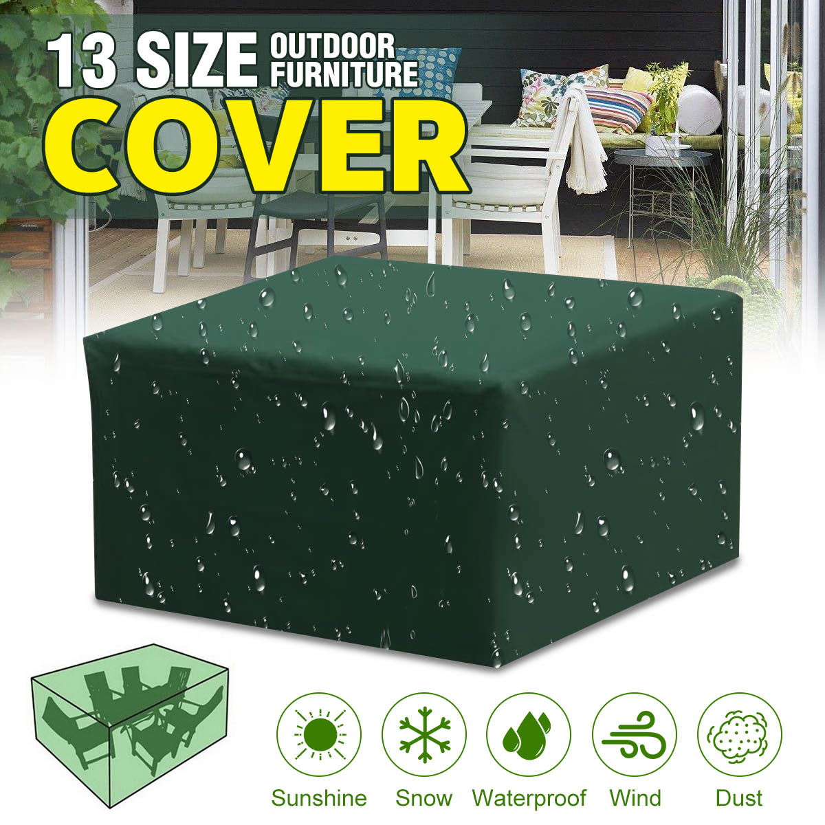 Patio Outdoor Garden Waterproof Furniture Table Set Chair Sofa Protector Covers