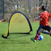Portable Folding Pop Up Children'S Soccer Goal Sets Strong Durable Backyard Beach Field Training Soccer Goal Sets Team Sports